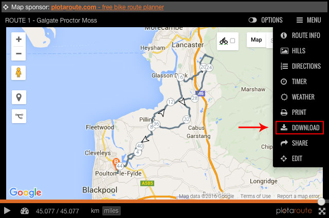 How To Download Routes to a Garmin - Fylde Coasters Cycling